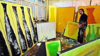 Roland Adatte: Der Magglinger Maler mit Atelier in Grenchen musste nicht lange zum Mitmachen animiert werden.