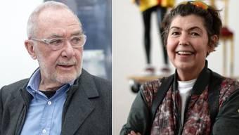 Die Künstlerin Isa Genzken (r) vertrug die Scheidung von Gerhard Richter (l) nicht gut: Sie wurde zur Alkoholikerin, wie sie gesteht. (Archivbilder)
