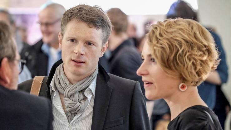 Jonas Fricker (Mitte) und Irène Kälin wären mögliche Kandidaten der Grünen, wobei der Vorteil bei Kälin liegt. (Archiv)