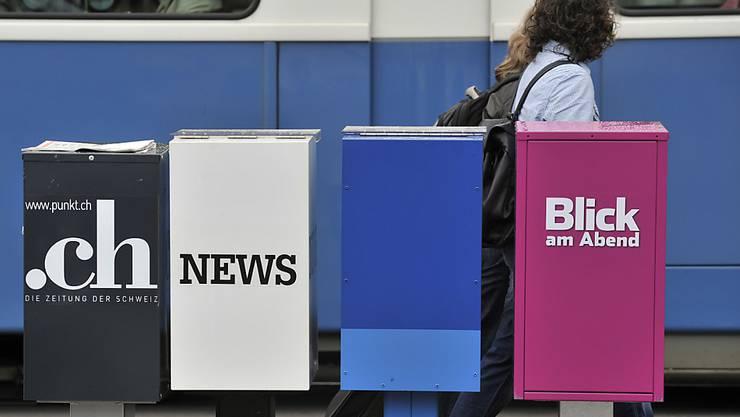 """Noch eine Pendlerzeitung weniger: Ab kommender Woche bleibt auch die Zeitungsbox von """"Blick am Abend"""" leer. Die gedruckte Ausgabe ist am Freitag mit dem Erscheinen der letzten Ausgabe eingestellt worden."""