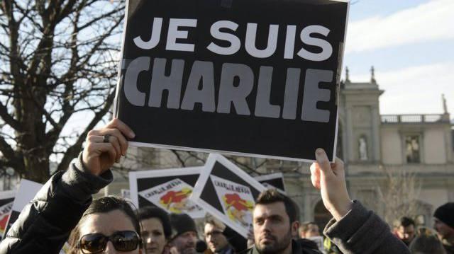 "Solidaritäts-Kundgebung für ""Charlie Hebdo""."
