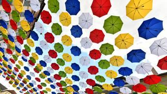 Farbige Regenschirme in Olten