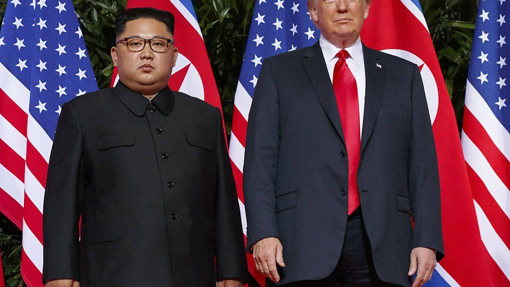 US-Präsident Donald Trump und der nordkoreanische Machthaber Kim Jong Un wollen Ende Februar zu einem zweiten Gipfeltreffen zusammenkommen. (Archiv)