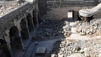Von der Terrormiliz IS zerstörte Jonas-Moschee in Mossul. Darunter fanden Archäologen einen unberührten antiken Palast. (zVg)