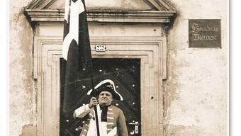 Zur Musterung mussten die Dietiker Wehrmänner in der «Krone» erscheinen. Ortsmuseum Dietikon