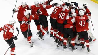 Das Schweizer Eishockey-Team konnte nach dem Gewinn der WM-Silbermedaille erneut jubeln