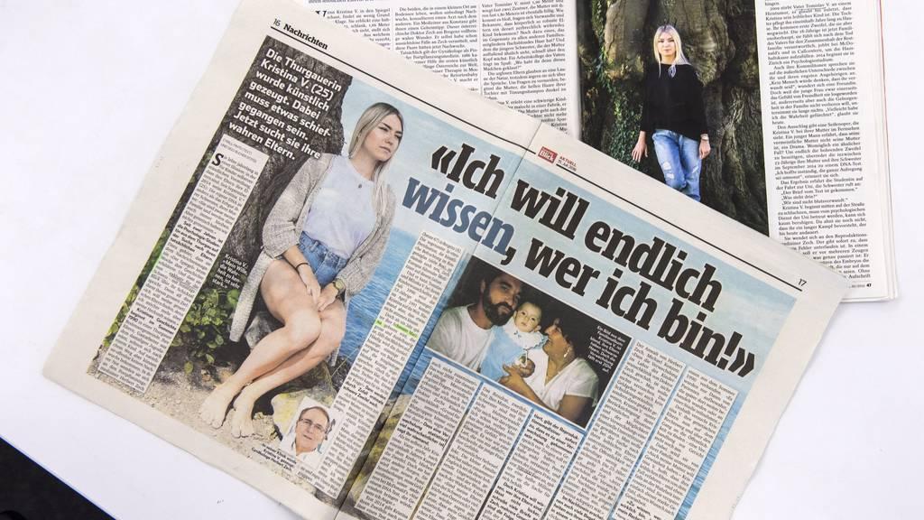Kristina V. ist auf der Suche nach ihrer leiblichen Familie und zieht das Interesse der Medien auf sich.
