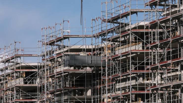 1000 neue Stellen kamen im 4. Quartal 2017 im Baugewerbe hinzu. Baustelle im Kanton Zürich. (Symbolbild)