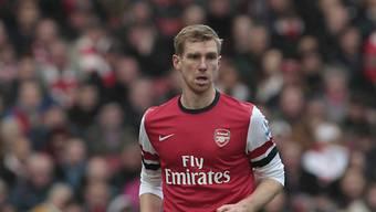 Arsenals Per Mertesacker erzielte gegen Fulham den einzigen Treffer