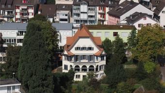Derzeit auf Eis gelegt: beabsichtigter Verkauf des Grundstücks südlich der Musikschule (Bildmitte) an der Leberngasse.