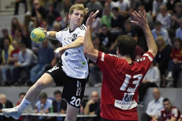 Lucius Graf (links, Gossau) gegen Christian Riechsteiner (rechts, Endingen).
