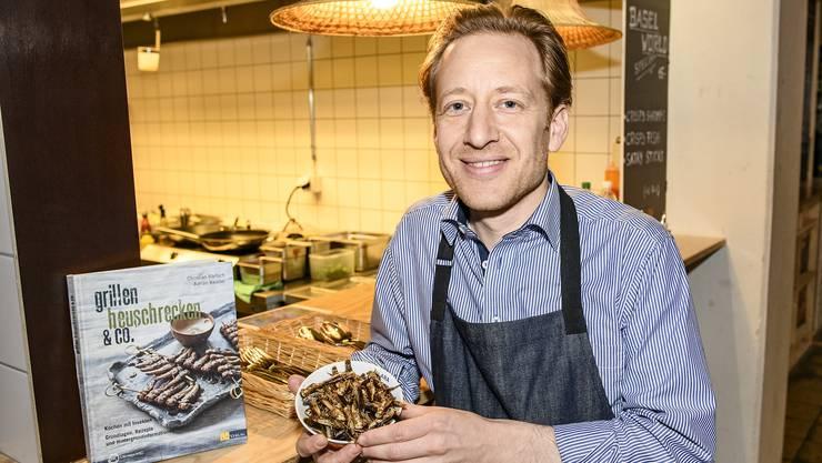 Roger Greiner ist der erste Schweizer Beizer, der Insekten serviert.