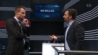 Vor der Sendungsaufzeichnung gerieten sich Moderator Jonas Projer und No-Billag-Initiant Olivier Kessler in die Haare.
