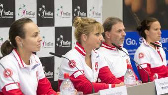 Die Schweizerinnen spielen gegen die Tschechinnen.