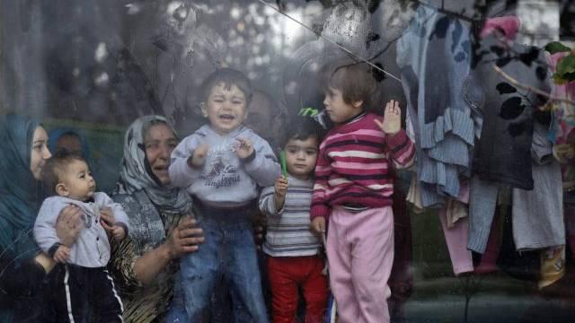 Syrische Flüchtlinge Mitte Dezember in Bulgarien