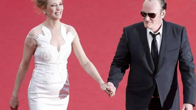 Thurman und Tarantino in Cannes im Mai (Archiv)