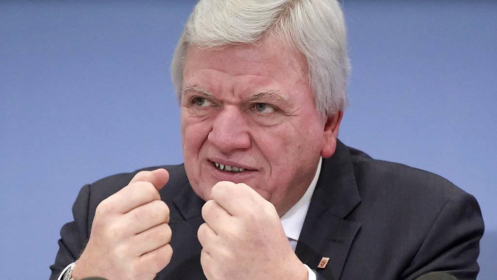Der CDU-Politiker Volker Bouffier ist erneut zum Ministerpräsidenten des deutschen Bundeslandes Hessen gewählt worden. (Archiv)