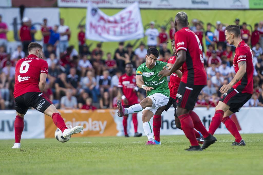Der FCSG war am Samstag beim FC Monthey zu Gast. (© Keystone/Jean-Christophe Bott)