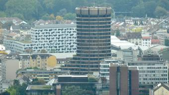 Das BIZ-Gebäude.