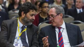 US-Unterhändler Froman (r) und sein EU-Kollege Becerra
