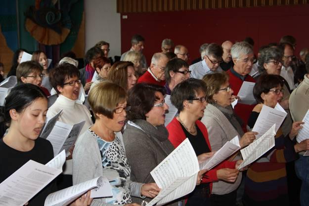 Die Schola gab Einblick in ihre Chorarbeit