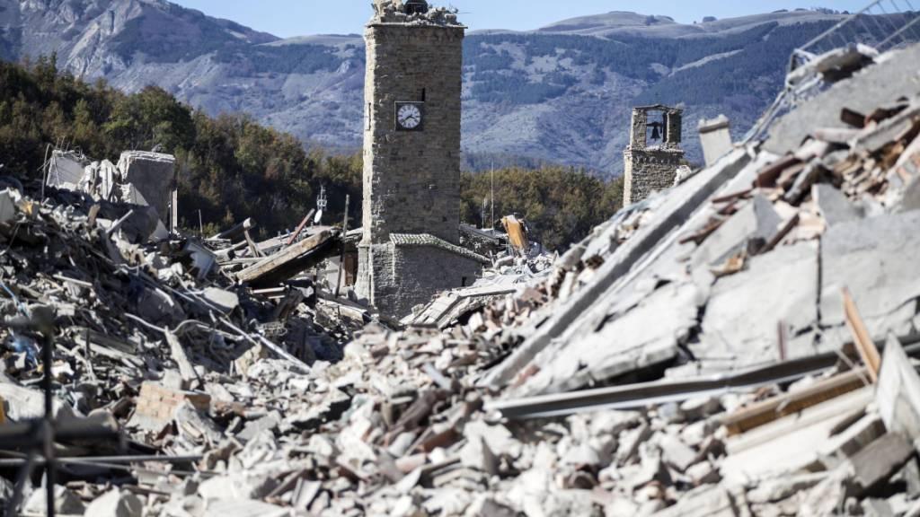 ARCHIV - Das schwere Erdbeben im italienischen Amatrice ist fünf Jahre her. Foto: Massimo Percossi/ANSA/dpa