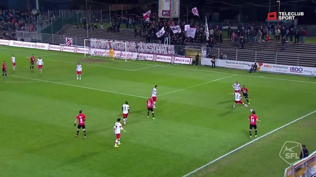 77. Minute: Der für Stefan Maierhofer eingewechselte Goran Karanovic trifft nach einer Vorlage von Raoul Giger per Kopf zum 2:1.