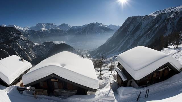 Ferienhäuser auf der Belalp im Wallis (Symbolbild)