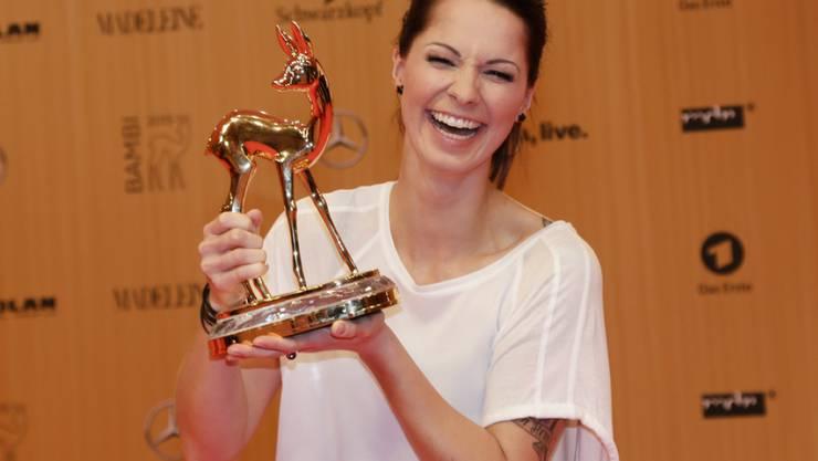 Christina Stürmer - hier letztes Jahr bei der Bambi-Verleihung - freut sich unbändig auf ihr erstes Kind (Archiv).