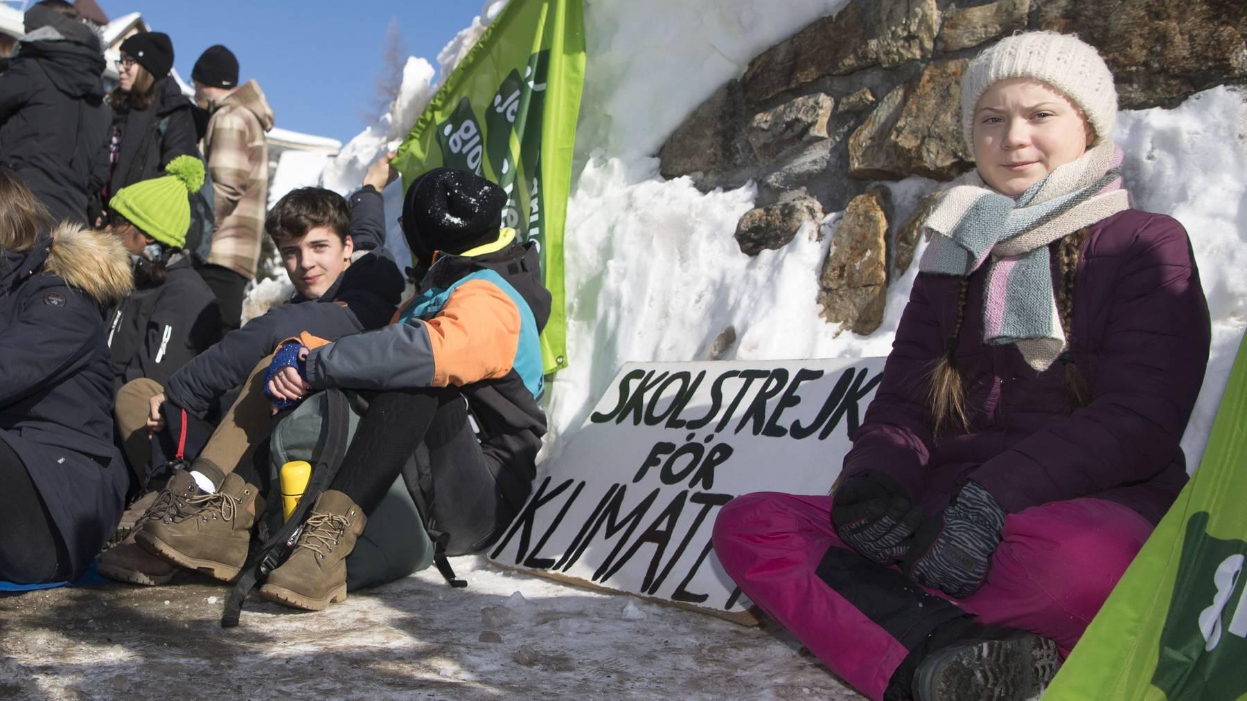 Aushängeschild der «Winterwanderung für Klimagerechtigkeit» ist die schwedische Klima-Aktivistin Greta Thunberg.