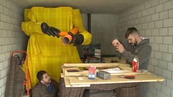"""Das """"Bettle-Böögg"""" hat eine Zukunft: Eine Gruppe junger Männer retten das traditionelle Bettlacher Fasnachts-Brauchtum."""
