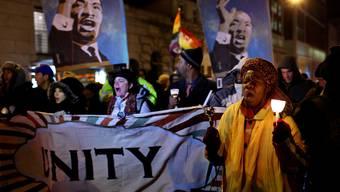 """Die Aktivisten der Protestbewegung """"Occupy Wall Street"""" ehren Martin Luther King"""