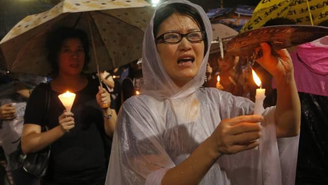 Frauen in Hong Kong erinnern an das Massaker