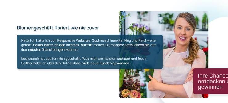 Hat angeblich dank Local.ch Kunden gewonnen: «Schönes kaukasisches Mädchen als Selbstständige im Blumenladen».