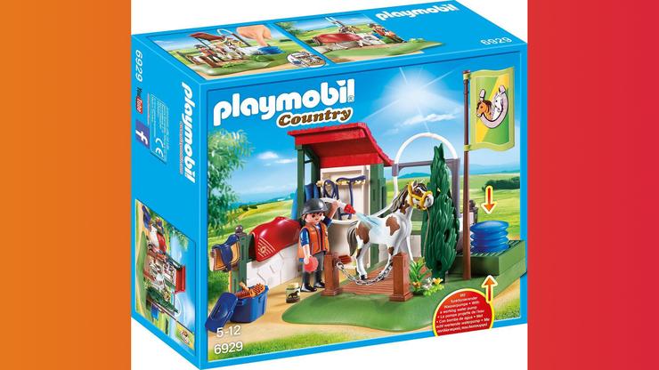 Wunsch-Nr. 18, Samuel, 3 Jahre, Playmobil Country Pferdewaschplatz, CHF 32.90, zB bei Migros