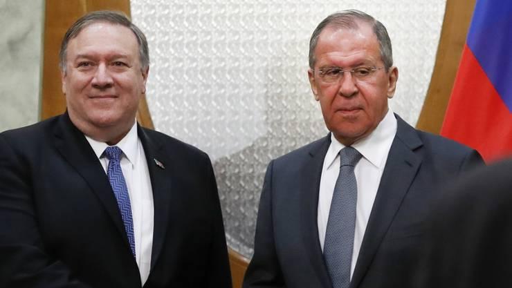 US-Aussenminister Pompeo und sein russischer Amtskollege Lawrow wollen sich für bessere Beziehungen zwischen ihren Ländern einsetzen.
