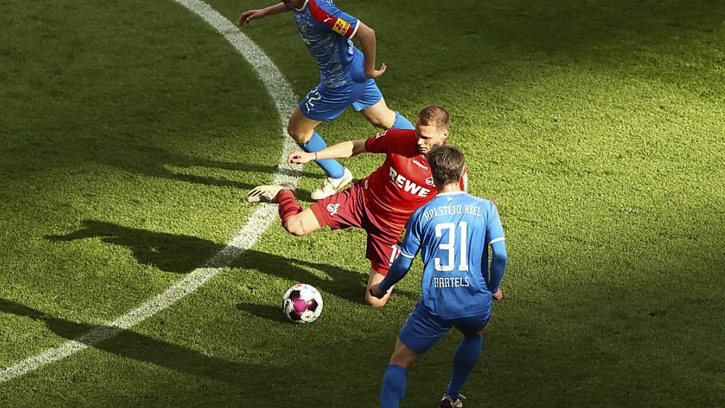 Für den 1. FC Köln vergab Ondrej Duda (Mitte) eine der besten Chancen kurz vor der Pause