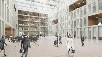 Elegantes Arbeitsumfeld für Ermittler: In diesem Verwaltungszentrum arbeiten künftig Bundesanwaltschaft und Bundespolizei.
