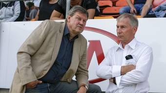 Roger Geissberger (links) verlässt gemeinsam mit Alfred Schmid den FC Aarau