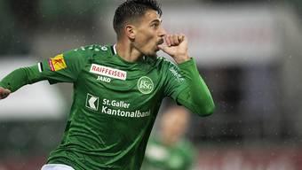 Andre Ribeiro schiesst den FC St. Gallen in Vaduz zum nächsten Dreier