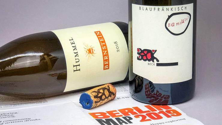 Trouvaillen von der «Raw Wine» – der Bambule! Blaufränkisch von Judith Beck und der Bernstein aus dem Hause Hummel.