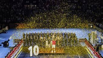 Roger Federer gewann im Oktober des letzten Jahres zum zehnten Mal die Swiss Indoors Basel