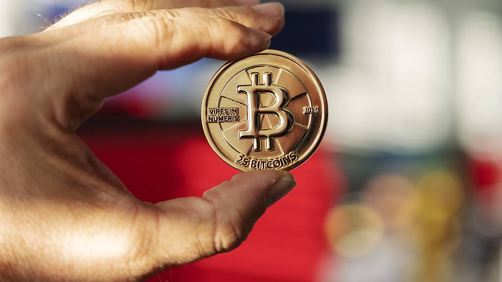 Bei Kryptowerten wie Bitcoin kam es am Mittwoch zu starken Kursverlusten. (Archivbild)
