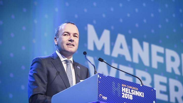 Der Gewinner: Der deutsche Manfred Weber (Bild) hat sich am Donnerstag in Helsinki gegenüber dem Finnen Alexander Stubb als EVP-Spitzenkandidat durchgesetzt.