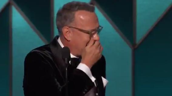 Tom Hanks zu Tränen gerührt