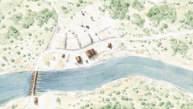 Die erste Siedlung ist vor 2000 Jahren rund und um die römische Brücke gebaut worden.