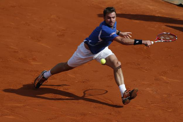 Stan Wawrinka am French Open in Paris, 5. Juni 2013