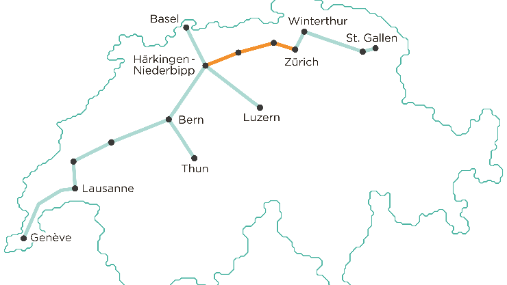 Das geplante Netz (Bild: Cargo Sous Terrain).