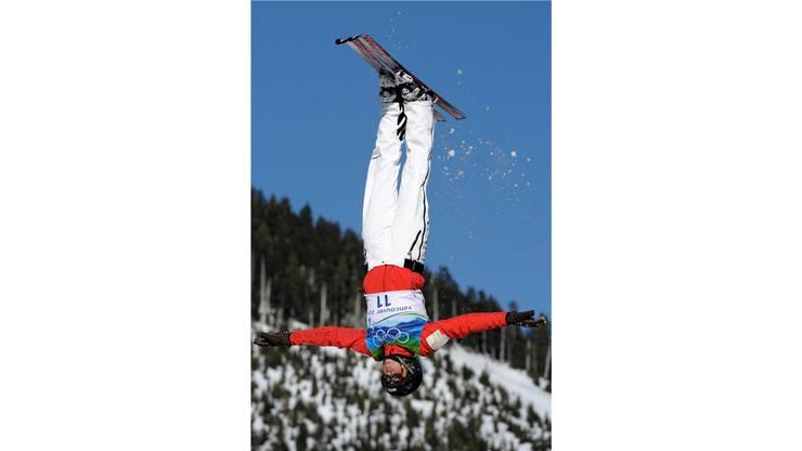 Tanja Schärer steht bei den Olympischen Winterspielen in Vancouver Kopf.