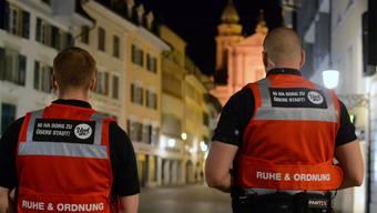 Erstmals zirkulierten Patrouillen der Firma Pantex AG durch die Altstadt